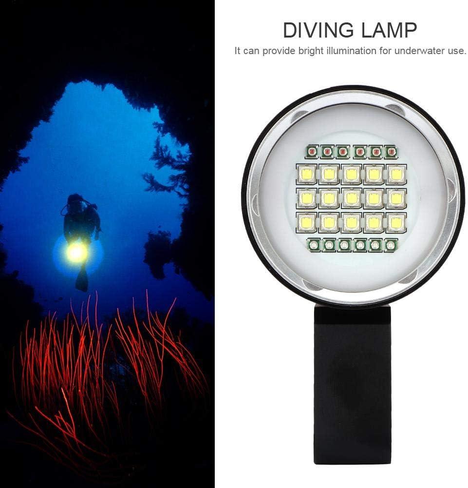 Zouminyy Linterna de Buceo L/ámpara de Buceo de Aluminio a Prueba de Agua Multifuncional LED Fotograf/ía subacu/ática Linterna de luz