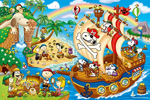 1000 piece jigsaw puzzle PEANUTS The Adventures of Pirates Snoopy (50x75cm)