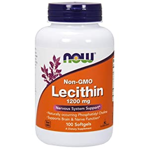 Now Foods, Lecithin 1200mg, 100 Soft Gels