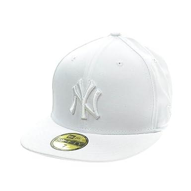 e815de58 New Era New York Yankees 59Fifty Men's Fitted Hat Cap White 10047612