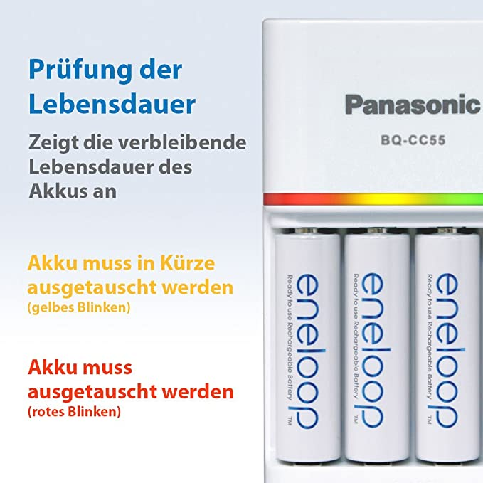 Amazon.com: Panasonic Loader bq-cc55 + 4 x r6/AA Eneloop ...