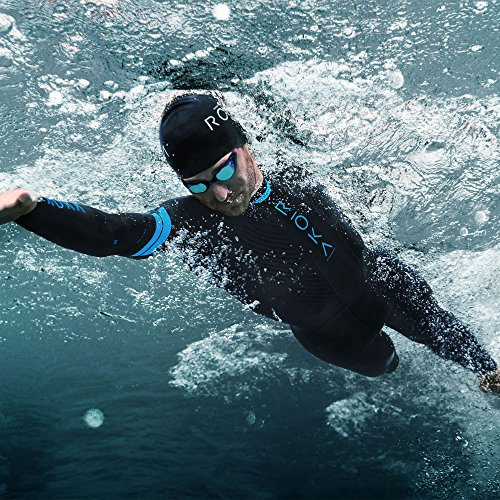 ROKA Maverick Comp II Men's Wetsuit for Swimming and Triathlons - Black/Cyan - Small (S) by ROKA (Image #3)