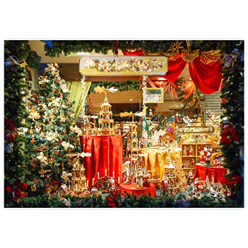 Allenjoy 7x5ft Holiday Christmas Market Store Backdrop for P