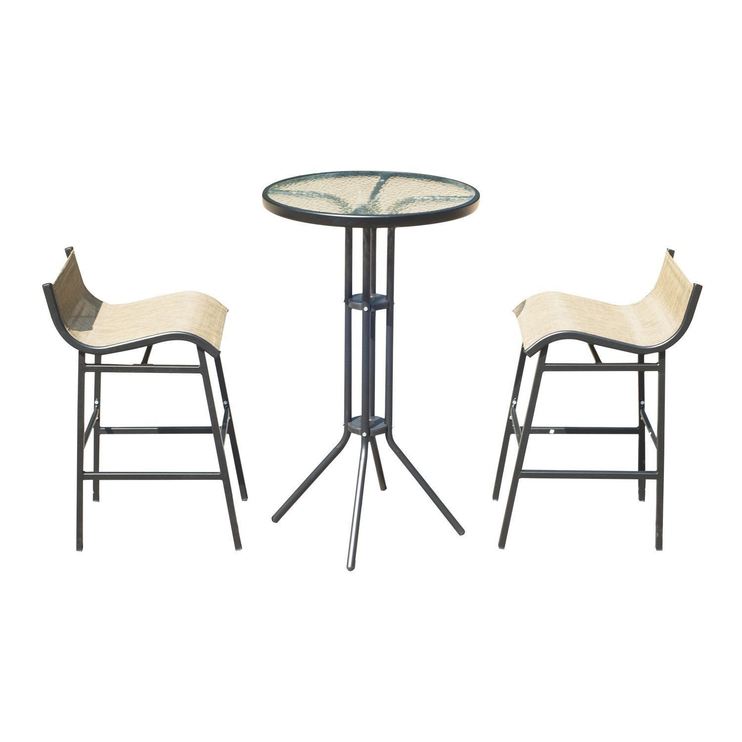 Outsunny 3 pc Outdoor Patio Pub Bistro Table & Chairs Set by Outsunny (Image #3)