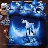 3d Mysterious Boundless Pure God Horse KissLife Bedding Sets Bedlinen Duvet/Quilt Cover Set 4pcs Queen Size