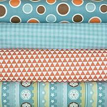Mod Tod Orange 4 Fabric Fat Quarters Bundle by Sherri Berry Designs/Riley Blake