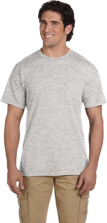 B01CD12272 Gildan Men's Dryblend Double Needle T-Shirt, Ash, X-Large 616XjHUJpLL