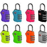 TSA Approved 3 Combination Travel Suitcase Luggage Combination Padlock Number Code Lock Pin for Luggage Suitcases and Travel - In sealed Blister Pack