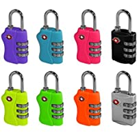 2 x TSA Approved 3 Combination Travel Suitcase Luggage Combination Padlock Number Code Lock Pin for Luggage Suitcases and Travel - In sealed Blister Pack