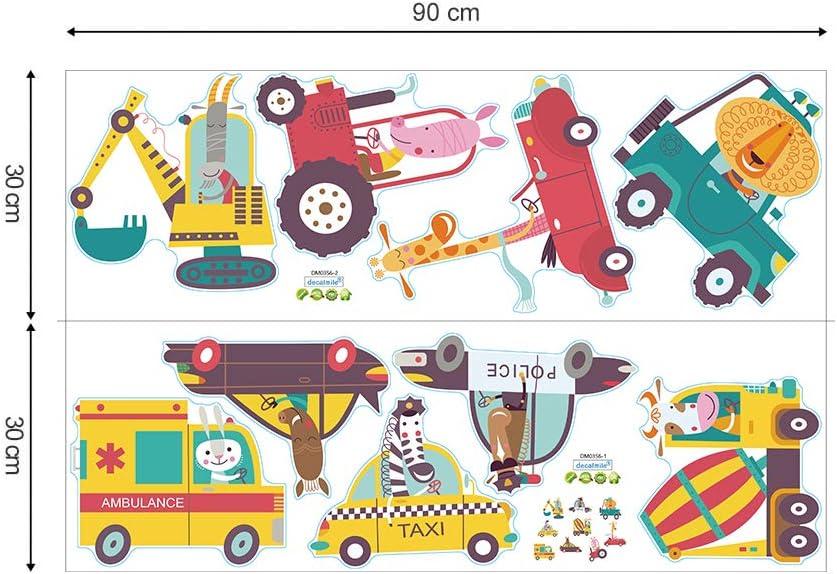 decalmile Animal Truck Wall Decals Giraffe Zebra Kids Wall Stickers Baby Nursery Childrens Bedroom Wall Decor