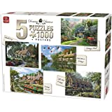 King KNG85532 Compendium 5-in-1 Cottage Puzzle (1000-Piece)