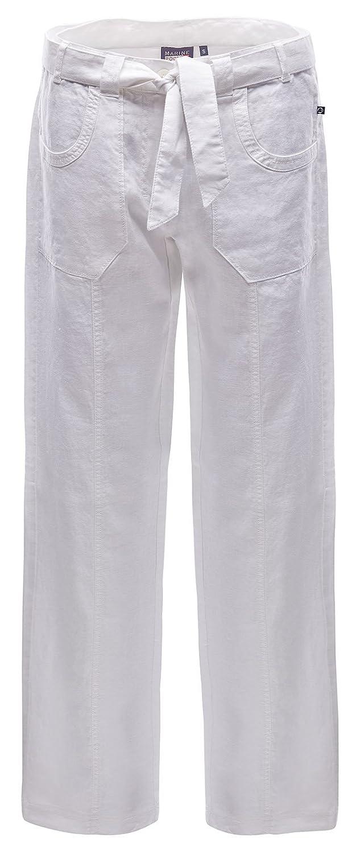 Blanc - Blanc XXL Marine Piscine Philine Linen Décoration Trousers Pantalon pour Femme