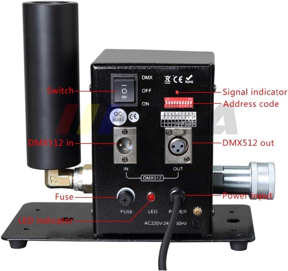 Máquina de chorro de CO2 LED RGB de CO2 con control DMX LED de CO2 Cañón de CO2 Led, máquina de niebla Co2 Blaster Jet 15 m