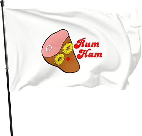 Banderas con diseño de jamón de ron N/F: Amazon.es: Jardín