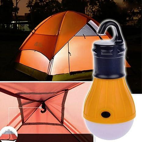 3 Modes Portable Hanging 3LED Camping Tent Light Garden Fishing Lantern Lamp