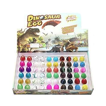 Yeelan Huevos de dinosaurio Juguete para incubar Dino Dragon Egg para niños Paquete de tamaño pequeño de 60 piezas, color mezclado de 5 estilos