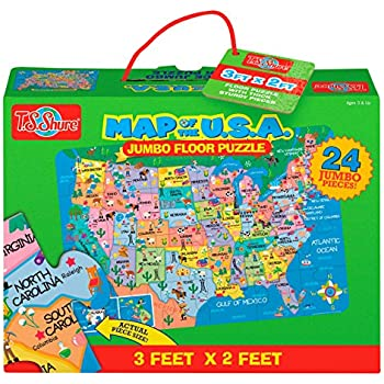 Amazon Com 48 Piece Deluxe United States Map Cardboard