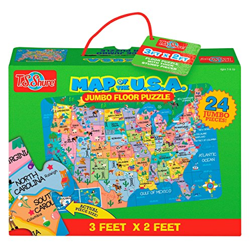 T.S. Shure Map of the U.S.A. Jumbo Floor Puzzle (Floor Puzzle States United)