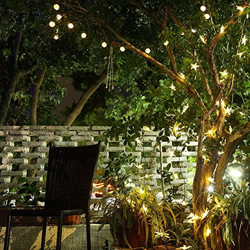 GDEALER Solar String Lights 30LED 20ft Solar Powered