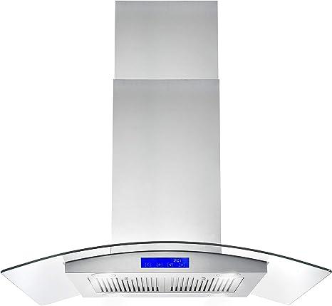 Cosmo 668ICS900 - Campana de montaje para techo de cocina (36 pulgadas, 900 CFM, con chimenea, luces LED, filtros permanentes y conducto convertible, en acero inoxidable): Amazon.es: Grandes electrodomésticos