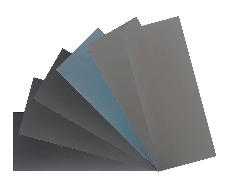 1x6 6Blatt Handschleifpapier Streifen Set mit Schleifpapier Bogen in K/örnung K 800 /– K 5000