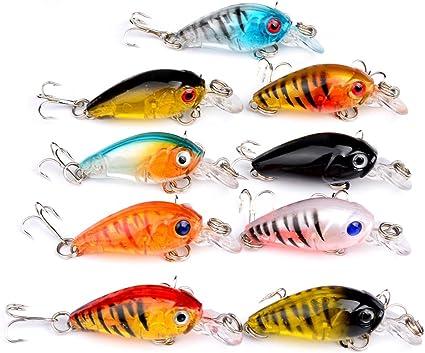 9pcs//lot Crankbait Hard Bait Tackle Artificial Lures Swimbait Fish Wobblers
