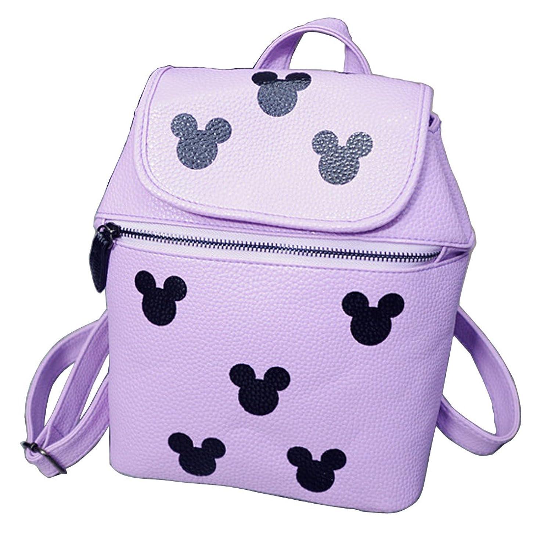 Aimeiya Mickey Mouse PU Leather casual shoulder bag Schoolbag