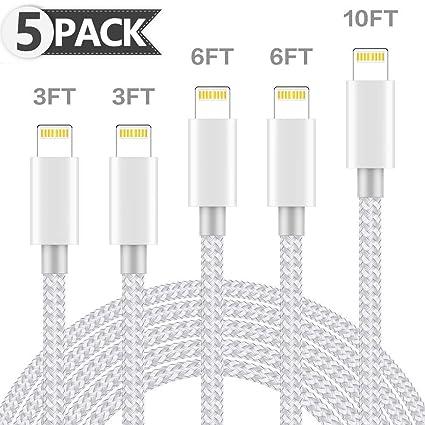 Amazon.com: ONXIGLI cargador de teléfono 5 Pack [3/3/6/6 ...