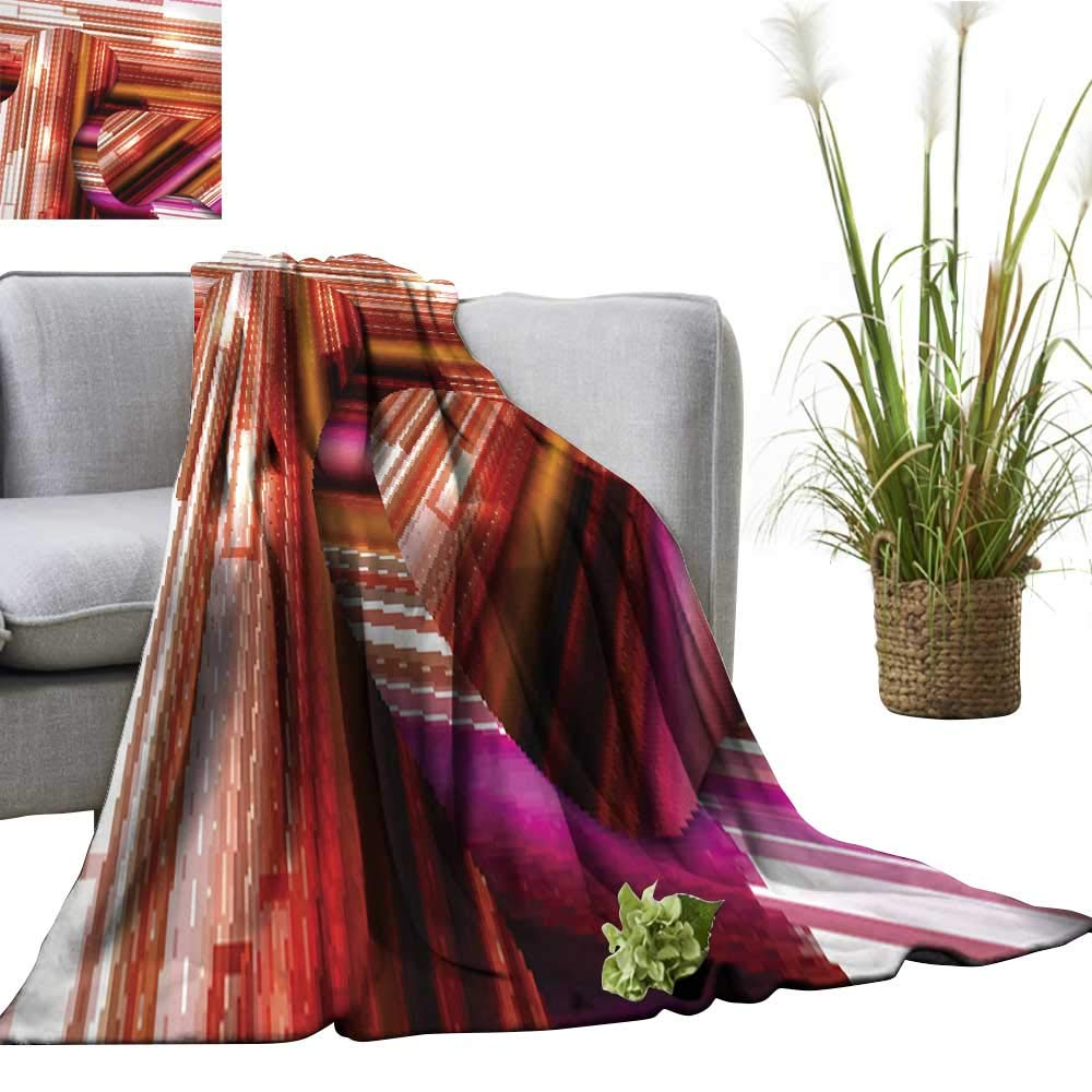 color07 71 Wx93 L clayee Super Soft BlanketsAbstract colorful Illustration Sofa Chair 51  Wx60 L
