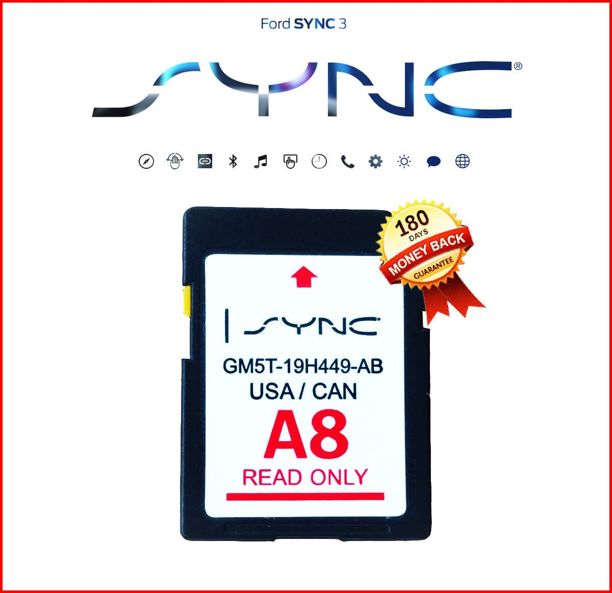 by Ford Navigation LATEST A8 2018 SD CARD SYNC FITS ALL FORD LINCOLN UPDATES A7