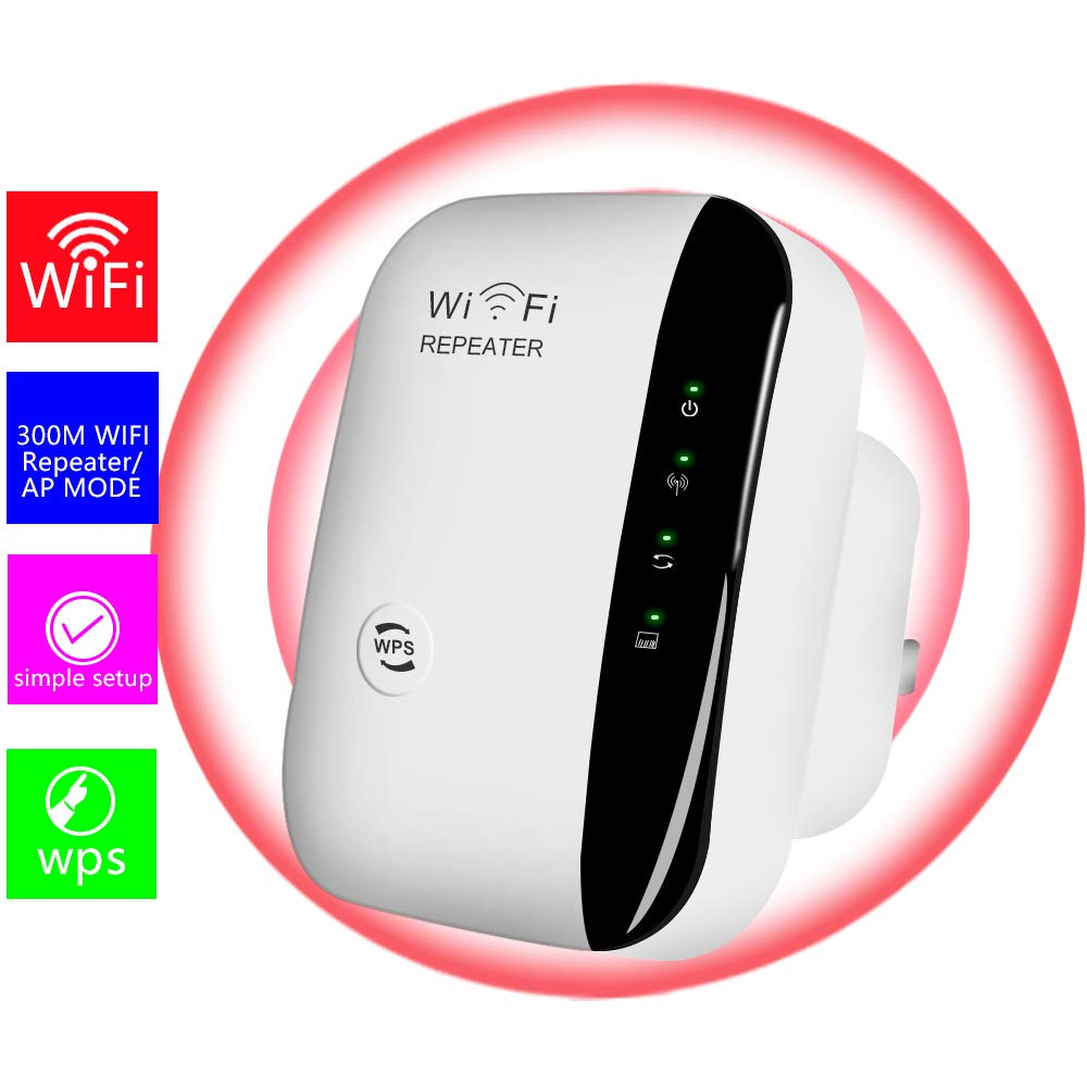 WiFi Extender-Mini WiFi Range Extender,N300 Wireless WiFi Repeater for 2.4GHz Internet WiFi Signal Booster Amplifier 802.11n/b/g Network with Ethernet Cable by USBNOVEL