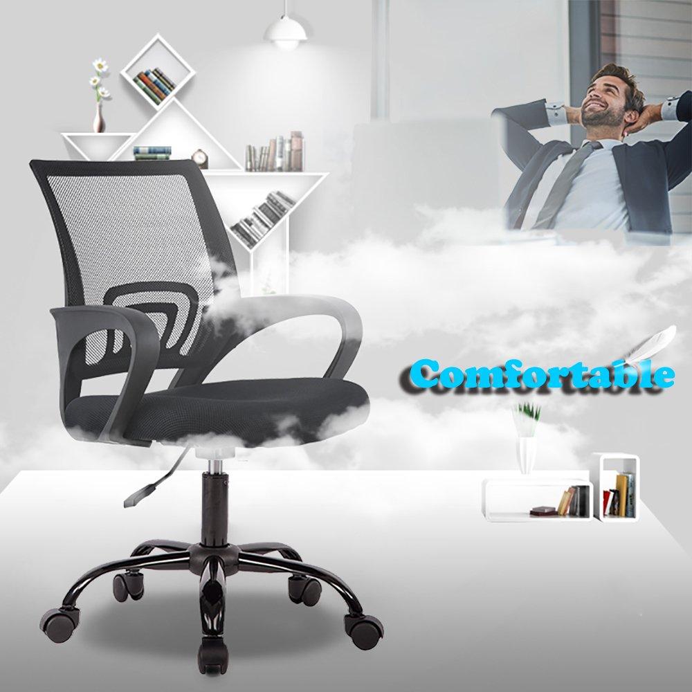 2PC Ergonomic Mesh Office Desk Midback Task Chair w/Metal Base by BestOffice (Image #6)