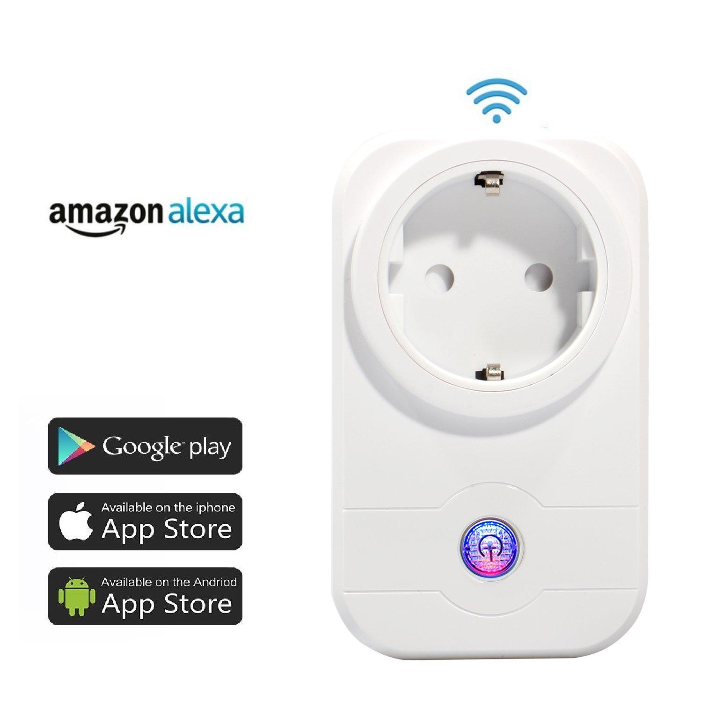 Expower 4er WiFi Steckdose Intelligente Funksteckdose Kompatible mit  Alexa Echo Plus Echo Dot und Google Home App Steuerung Zeitsteuerung fü r IOS und Android fü r Haus Bü ro 1440727