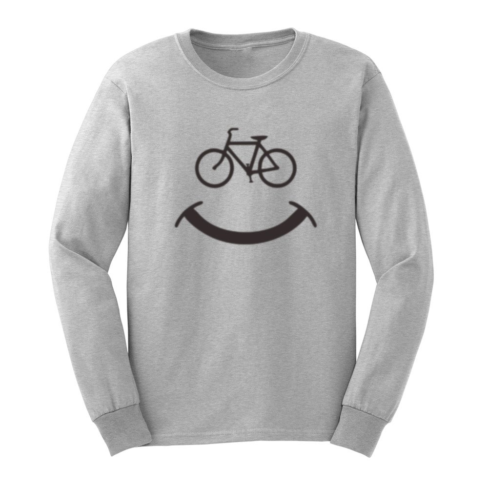 S Bicycle Smile Sport T Shirts Casual Tee