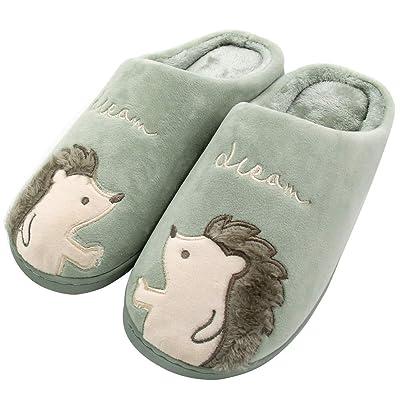 ALOTUS Women's Animal Hedgehog Soft Home Slippers Indoor Outdoor | Slippers