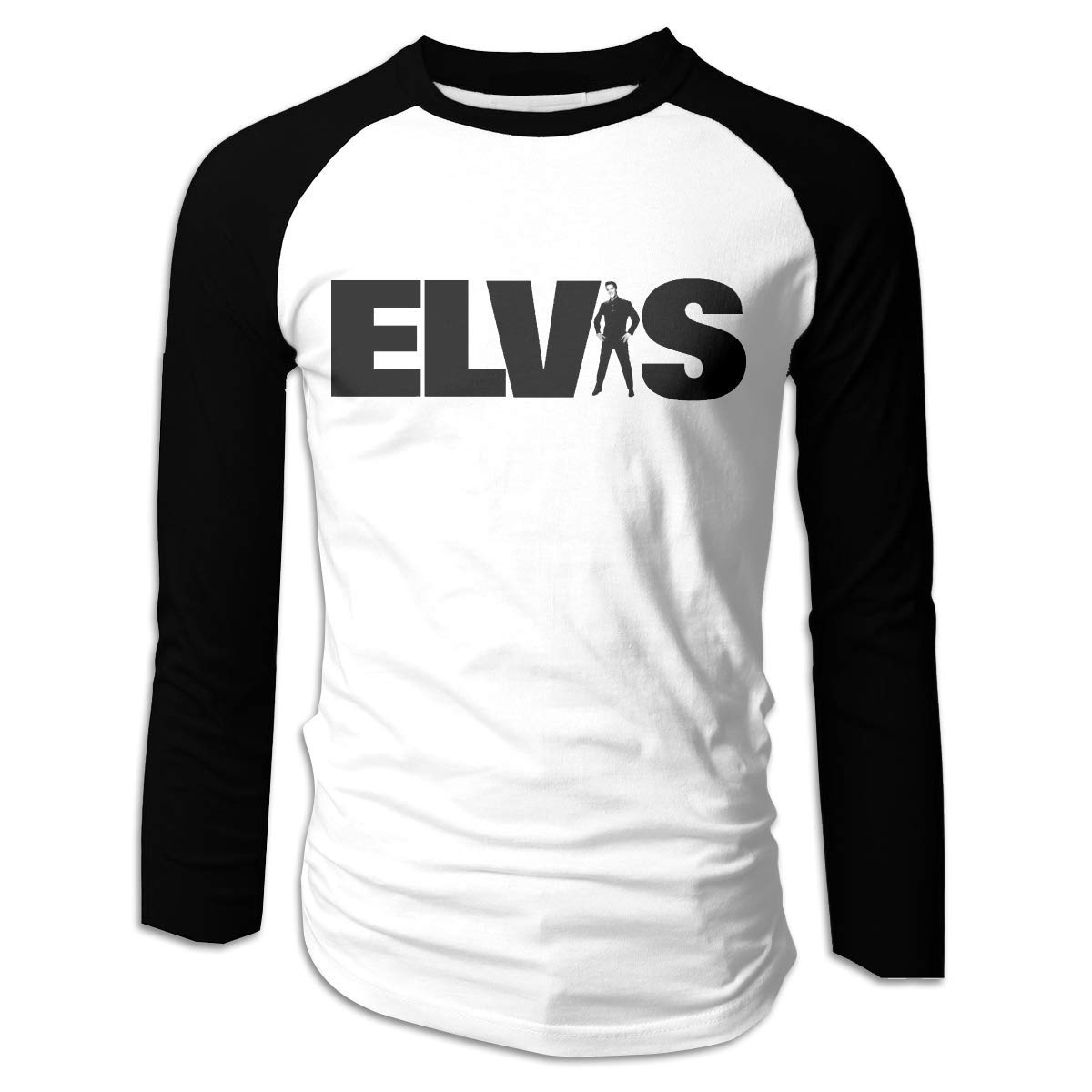 Lasdmingliang Elvis Presley Raglan Athletic Casual Baseball Shirt 4015