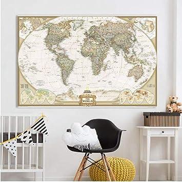 Arte de la pared Impresión En Lienzo Arte De La Pared Mapa ...