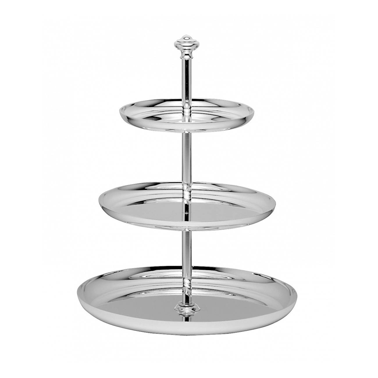 Christofle Albi Silver Plated Three Tier Pastry Stand