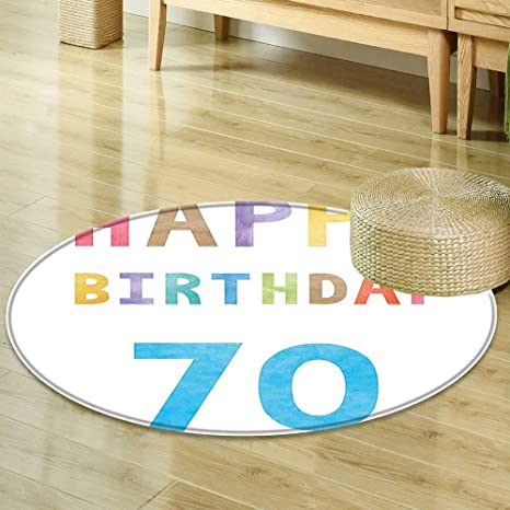 Image Unavailable Not Available For Color Round Rug Kid Carpet 70th Birthday Decorations Vintage