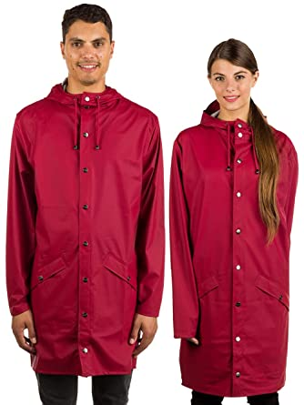 147f8760fda4ed RAINS Herren Long Jacket Regenmantel: Amazon.de: Bekleidung