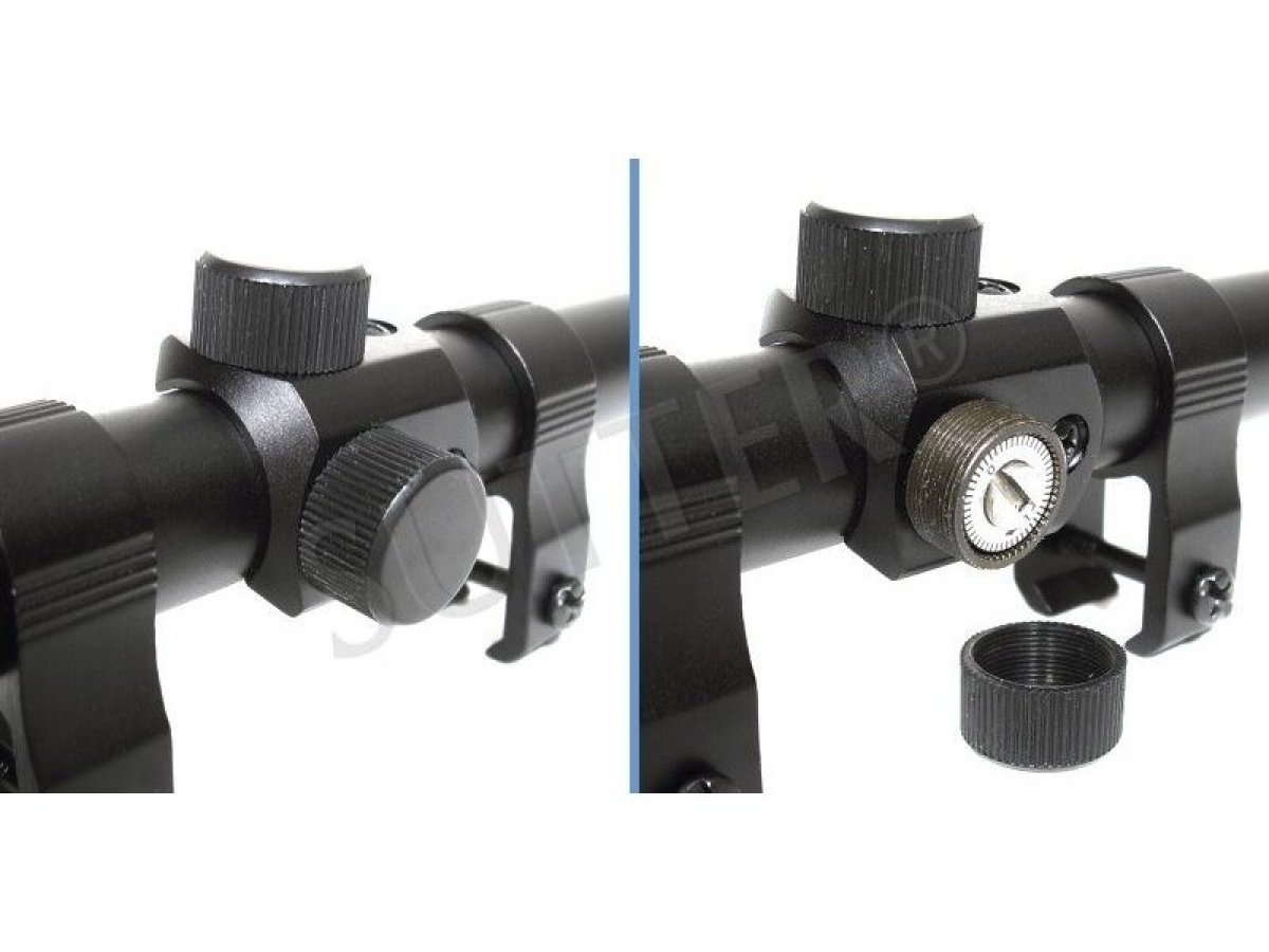 3-7 x 20, Incluye Montaje de 11 mm, para calibres peque/ños, Rifle de Aire y Airsoft, Modelo de 2018 SUTTER Mira telesc/ópica