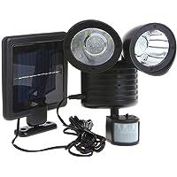 OZSTOCK® 22 LED Adjustable Dual Solar Powered Garage Motion Sensor Security Flood Light