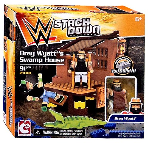 WWE Wrestling C3 Construction StackDown Bray Wyatt's Swamp House Playset #21018 by Signature Dog Autographs