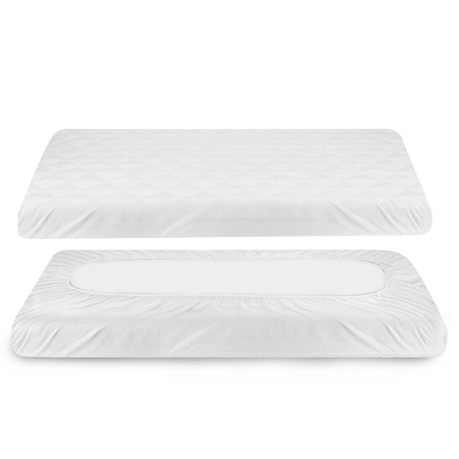 Baby Waterproof Mattress Pad Cover, Zooawa Reusable Super Soft Breathable Waterproof Crib Mattress Protector Cover for Newborn Infant, 51L x 28W 51L x 28W