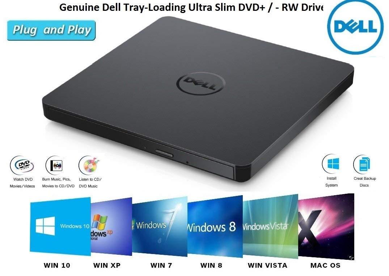 USB External DVD Drive COMPATIBLE for Microsoft Windows 10 / Vista /7/8.1, Mac OS, Dell ,Acer , ASUS, Apple , Samsung, Lenovo Laptop Notebook UltraBook PC Desktop,CD/DVD-RW Drive, CD-RW Rewriter by DellComputres