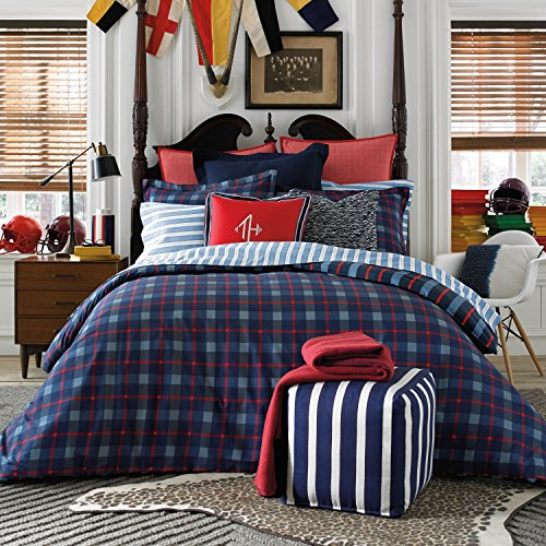 (Tommy Hilfiger Boston Plaid Comforter Set, Twin)