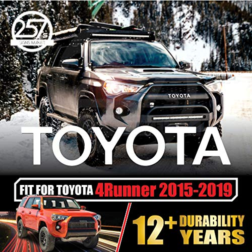allWEATHER Toyota 4Runner TRD PRO Grill Vinyl Decals for 2015 2016 2017 2018 2019 Grille Logo Inlay Letters Overlay Sticker Set [Gloss White]