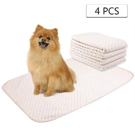 Yangbaga Empapadores Perros, Pañales Perro Lavable y Reutilizables Empapadores de Entrenamiento para Cachorros - 4pc