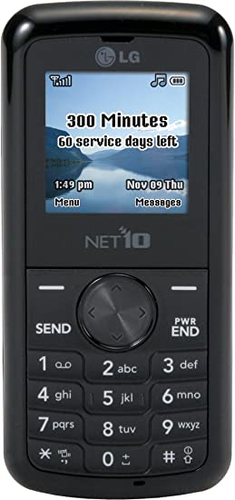 LG 300G Prepaid Phone (Net10) with 300 Minutes Included