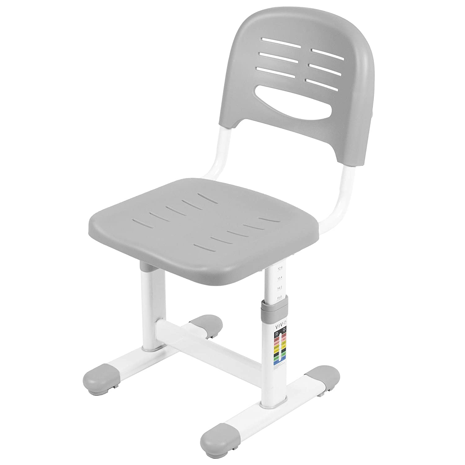 VIVO Gray Height Adjustable Kids Desk Chair (Chair Only) Designed for Interactive Workstation | Universal Children's Ergonomic Seat (DESK-V201G-CH)